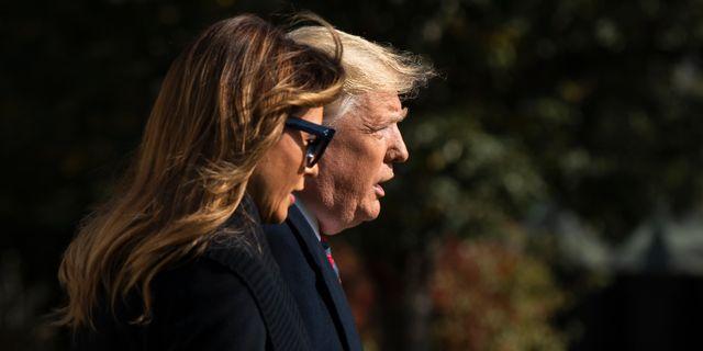 Donald och Melania Trump. Manuel Balce Ceneta / TT NYHETSBYRÅN