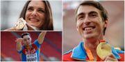 Ryska friidrottare som Jelena Isinbajeva, Aleksander Menkov och  Sergej Sjubenkov stängs av.