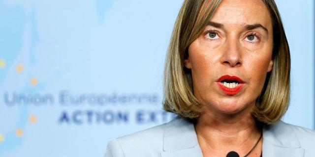 Federica Mogherini. FRANCOIS LENOIR / TT NYHETSBYRÅN