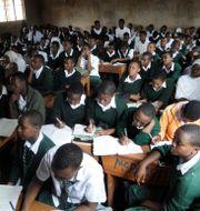 Klassrum i Moshi, Tanzania. Maria Almond / TT NYHETSBYRÅN