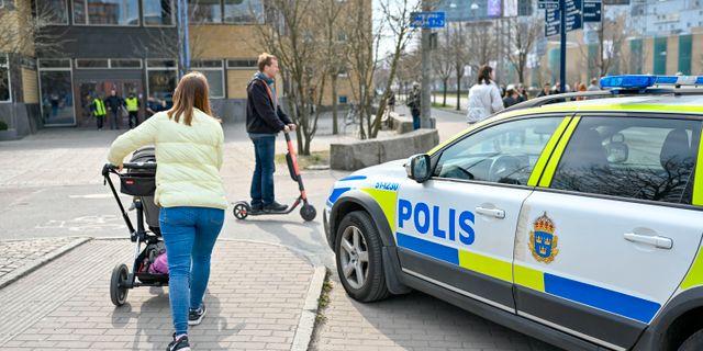 Arkivbild. Katrinelundsgymnasiet utrymdes nyligen efter att en elev framfört hot mot skolan. Björn Larsson Rosvall/TT / TT NYHETSBYRÅN