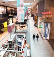 Nästan tom galleria i Stockholm. Fredrik Sandberg/TT / TT NYHETSBYRÅN