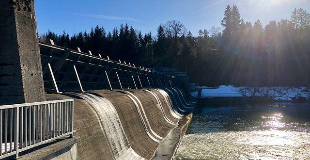Vattenkraft i tyska Bayern. Arkivbild. Wikimedia