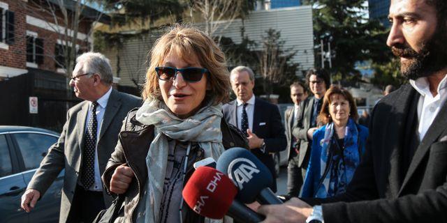 FN:s rapportör Agnes Callamard. Cemal Yurttas / TT NYHETSBYRÅN