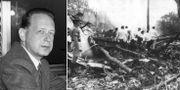 Dag Hammarskjöld/flygplansvraket i dåvarande Nordrhodesia. TT