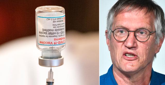 Vaccinampull/Anders Tegnell.  TT.