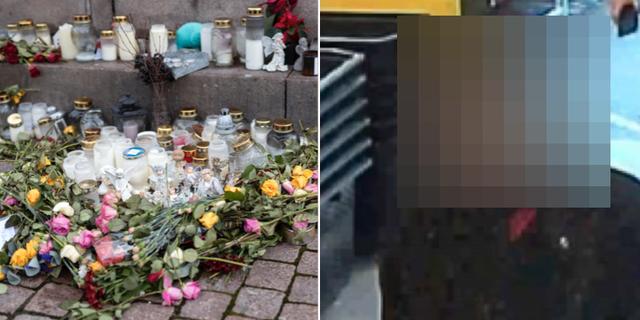 Minnesplats för Wilma Andersson/mordmisstänkte pojkvännen TT/Polisens förundersökning