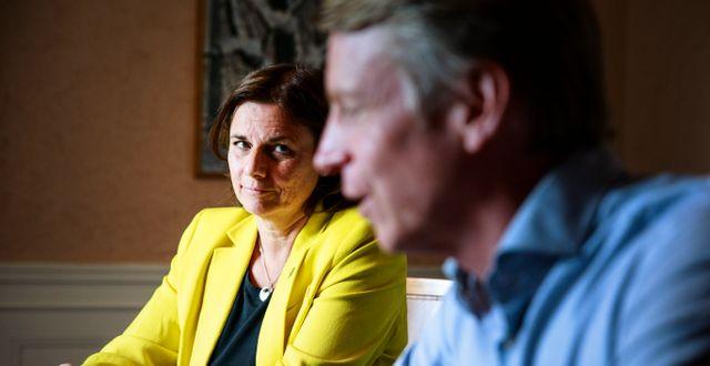 Isabella Lövin och Per Bolund.  Emma-Sofia Olsson/SvD/TT / TT NYHETSBYRÅN