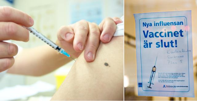 Bilder från vaccineringen mot svininfluensa. TT