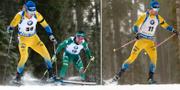 Sebastian Samuelsson, till vänster, och Jesper Nelin under dagens lopp. TT