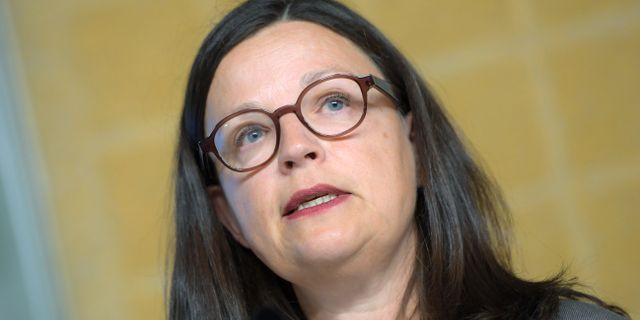 Gymnasieminister Anna Ekström. Arkiv. Maja Suslin/TT / TT NYHETSBYRÅN