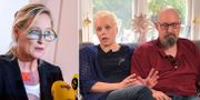Mariana Vikström, kommundirektör Ystads kommun vid pressträffen om den oberoende utredningen av fallet/föräldrarna Pernilla och Hans. TT/Kalla fakta, TV4