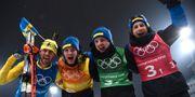 Fredrik Lindström, Sebastian Samuelsson, Jesper Nelin, Peppe Femling. FRANCK FIFE / AFP
