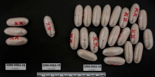 Narkotikabeslag som Tullverket gjort av personer med kopplingar till Black Axe.  Tullverket / TT NYHETSBYRÅN