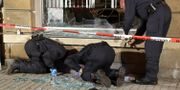 Arkivbild. Polis undersöker Die Linkes kontor i Freital efter en explosion 2015. Roland Halkasch / TT / NTB Scanpix
