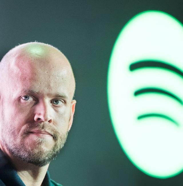 Spotifys medgrundare och vd Daniel Ek. Lars Pehrson/SvD/TT / TT NYHETSBYRÅN