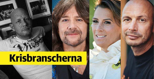 Einar Steen, Robert Wells, Jill Johnson och Petter.