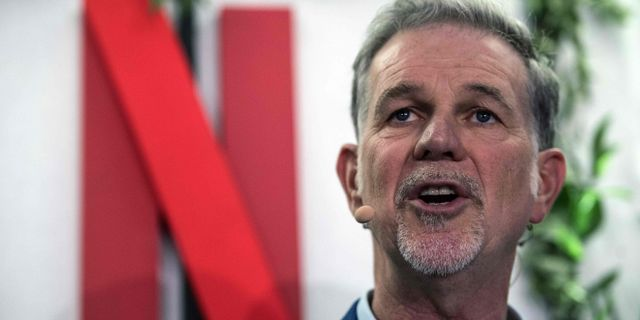 Reed Hastings.  CHRISTOPHE ARCHAMBAULT / AFP