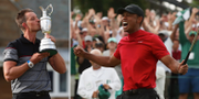 Henrik Stenson och Tiger Woods Bildbyrån