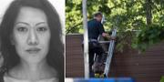 Lena Wesström/Poliser som arbetar på brottsplatsen.aka Polisen/TT
