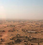 Flygbild från Burkina Faso. Arkivbild.  Sam Mednick / TT NYHETSBYRÅN