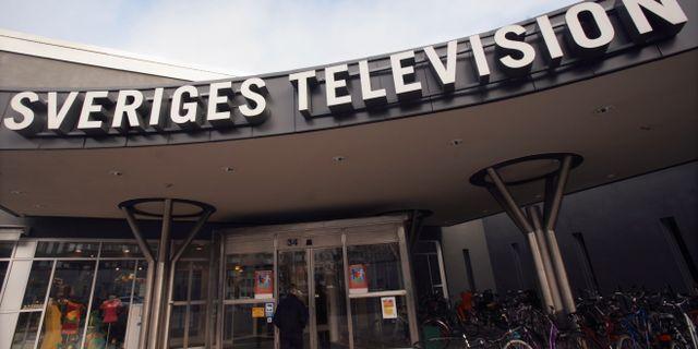 Entrén till Sveriges Television i Stockholm. Fredrik Sandberg / TT / TT NYHETSBYRÅN