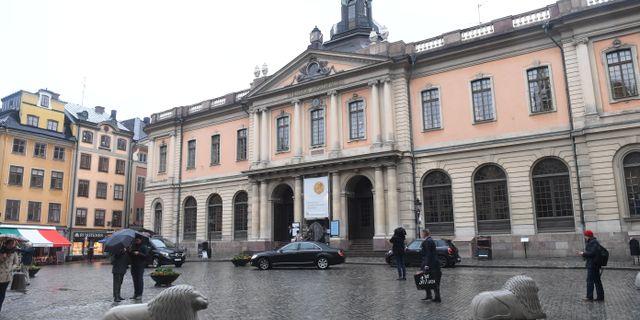 Börshuset i Stockholm där Svenska Akademien håller till. Fredrik Sandberg/TT / TT NYHETSBYRÅN
