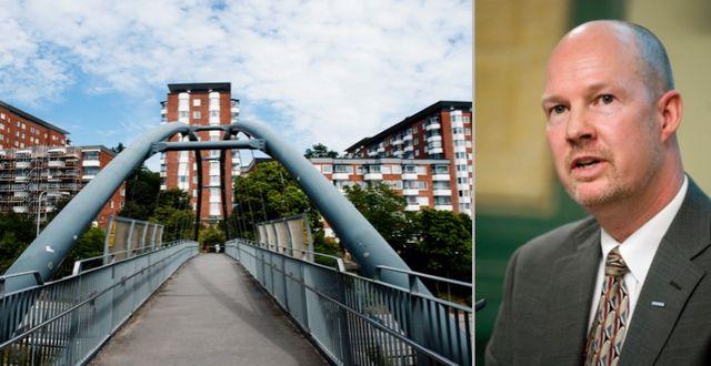 Bostäder i Nacka (som inte har något med artikeln att göra) och Mats Gerdau. TT