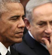 Barack Obama och Benjamin Netanyahu. MENAHEM KAHANA / TT NYHETSBYRÅN