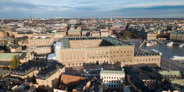 Stockholms slott i Gamla stan. Fredrik Sandberg/TT / TT NYHETSBYRÅN