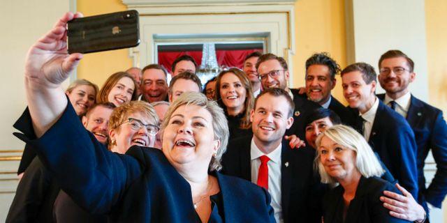 Erna Solbergs nya regering. NTB SCANPIX / TT NYHETSBYRÅN