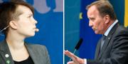 Annika Hiroven Falk och Stefan Löfven. TT