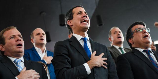 Juan Guaidó  CRISTIAN HERNANDEZ / AFP