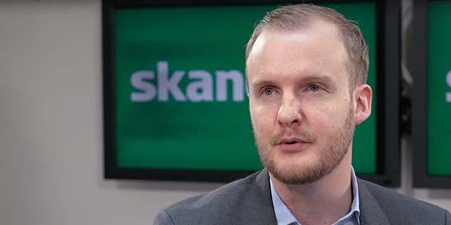 Johan Lundqvist, makroekonom på Skandia. Foto: Skandia
