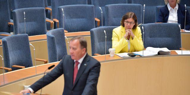 Stefan Löfven/Isabella Lövin.  Jessica Gow/TT / TT NYHETSBYRÅN