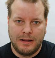 Bild ur polisens förundersökning / Teckning från rättegången (Nyqvist längst till höger) TT