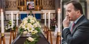 Josefin Nilssons begravning och Stefan Löfven. TT