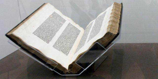 Gutenbergs bibel. Mary Altaffer / TT NYHETSBYRÅN/ NTB Scanpix