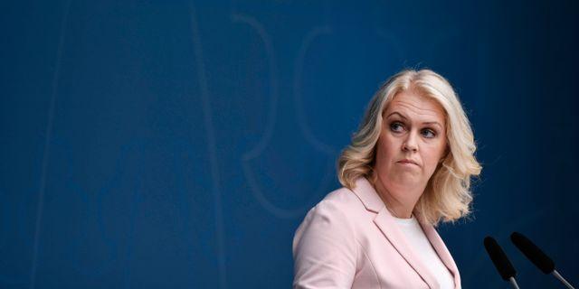 Socialminister Lena Hallengren Stina Stjernkvist/TT / TT NYHETSBYRÅN