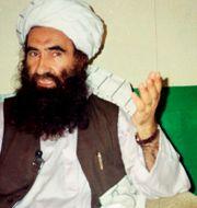 Arkivbild. Jalaluddin Haqqani på en bild från 1998 Mohammed Riaz / TT NYHETSBYRÅN