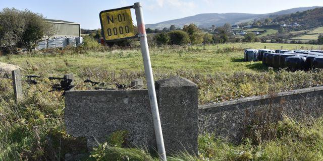 Den osynliga gränsen mellan Irland och Nordirland. Wiktor Nummelin/TT / TT NYHETSBYRÅN