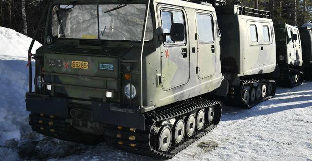 Arkiv. En bandvagn under en arméövning 2019. Naina Helen Jåma / TT NYHETSBYRÅN