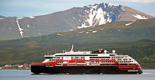 Fartyget på plats i Tromsø idag. Rune Stoltz Bertinussen / TT NYHETSBYRÅN