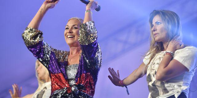 Jessica Andersson vid ett tidigare uppträdande.  Naina Helén Jåma/TT / TT NYHETSBYRÅN