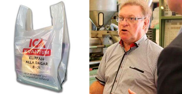 Företagaren Åke Rosén har utvecklat den så kallade Gaia-kassen.