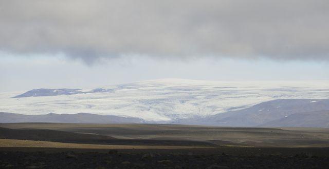 Glaciären Hofsjokull nära Reykjavik. STRINGER / TT NYHETSBYRÅN