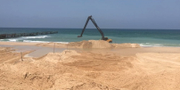 Bygget inleddes vid stranden Zikim på söndagen. Israels försvarsdepartement.