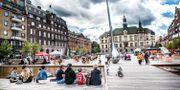 Flaggan hissades på Fristadstorget. Arkivbild. Tomas Oneborg/SvD/TT / TT NYHETSBYRÅN