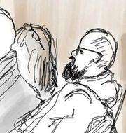 Arkivbild: Teckning från rättegången mot de före detta Knutbypastorerna.  Ingela Landström/TT / TT NYHETSBYRÅN