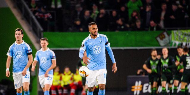 Kiese Thelin efter Wolfsburgs kvittering. LUDVIG THUNMAN / BILDBYRÅN